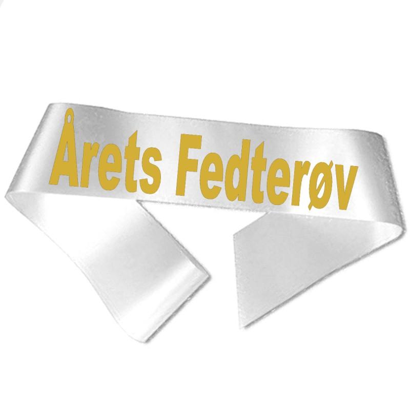 Årets Fedterøv guld metallic tryk - Ordensbånd