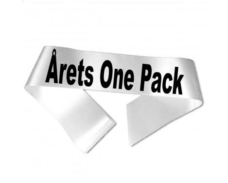 Årets One Pack sort tryk - Ordensbånd