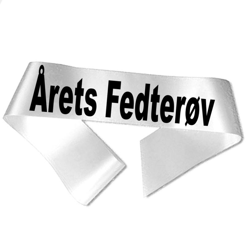 Image of   Årets Fedterøv sort tryk - Ordensbånd