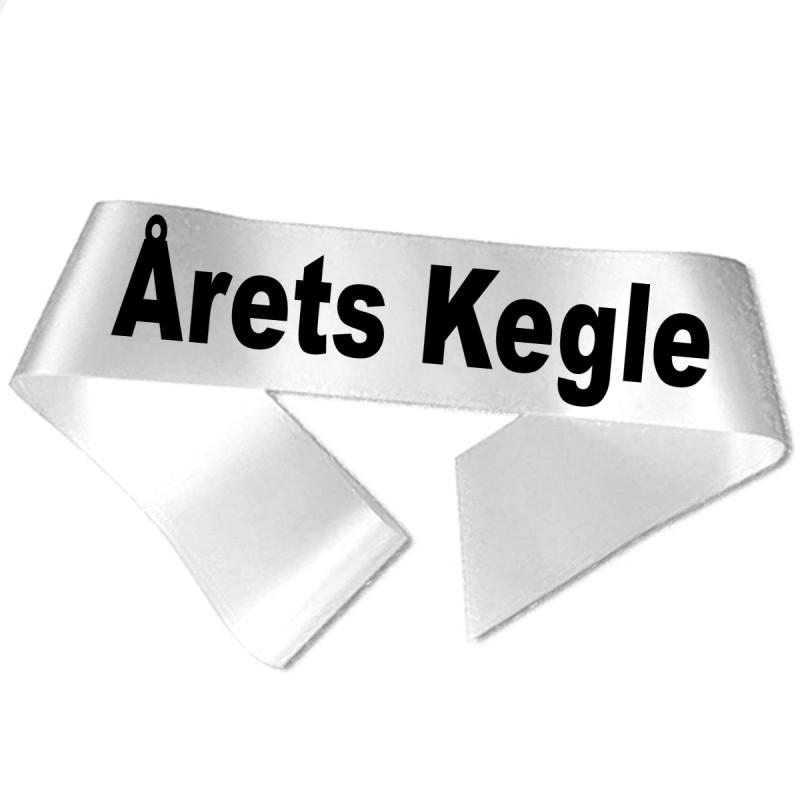 Image of   Årets Kegle sort tryk - Ordensbånd