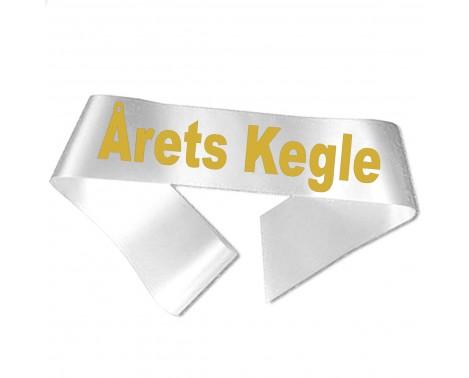 Årets Kegle guld metallic tryk - Ordensbånd