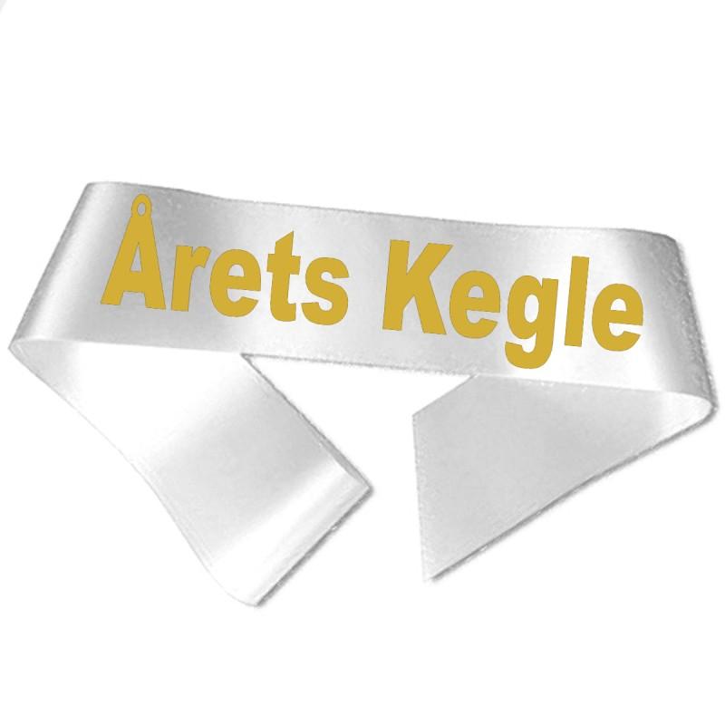 Image of   Årets Kegle guld metallic tryk - Ordensbånd