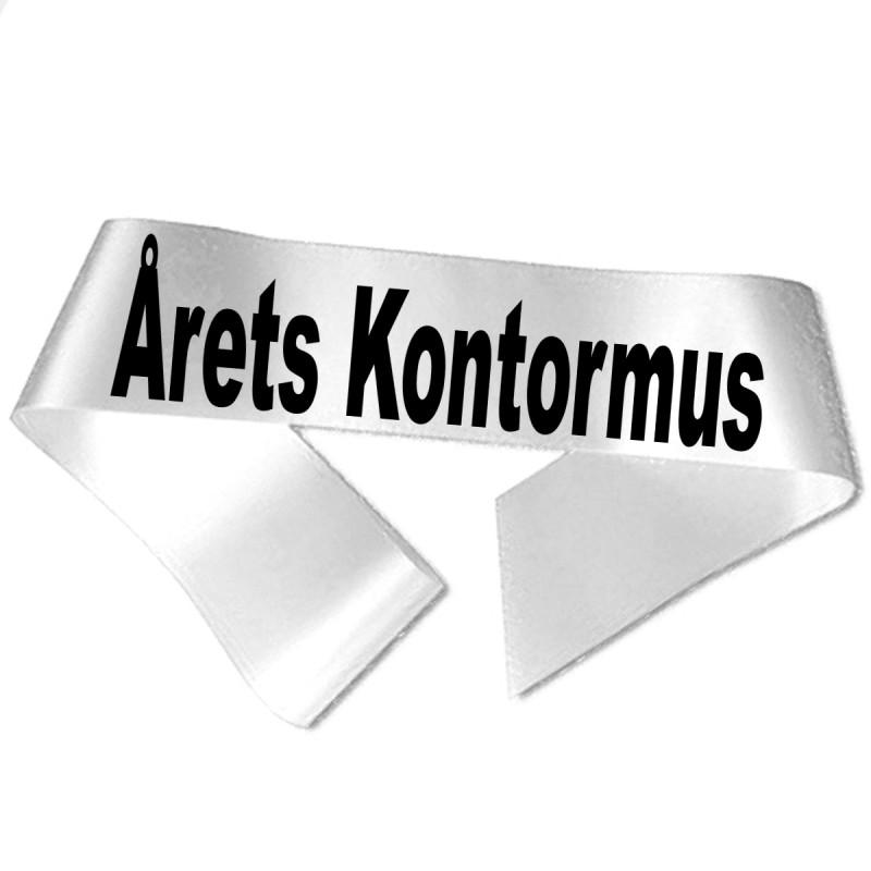 Image of   Årets Kontormus sort tryk - Ordensbånd