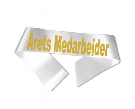 Årets Medarbejder guld metallic tryk - Ordensbånd