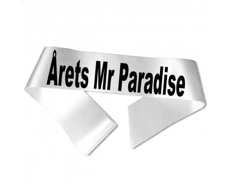 Årets Mr Paradise sort tryk - Ordensbånd