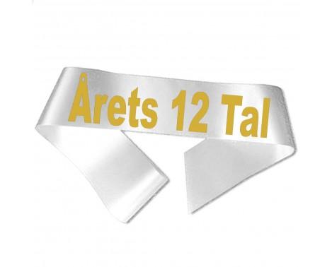 Årets 12 Tal guld metallic tryk - Ordensbånd