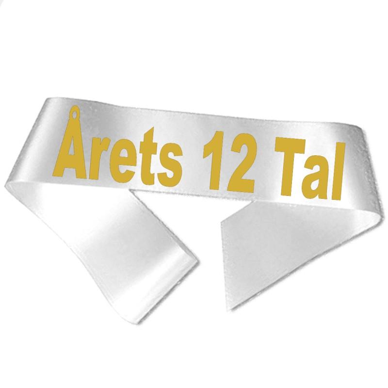 Image of   Årets 12 Tal guld metallic tryk - Ordensbånd