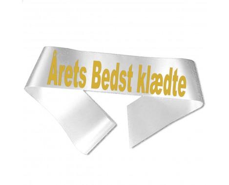 Årets Bedst klædte guld metallic tryk - Ordensbånd