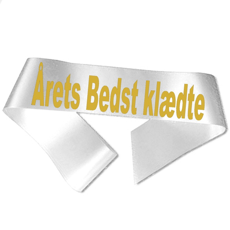 Billede af Årets Bedst klædte guld metallic tryk - Ordensbånd