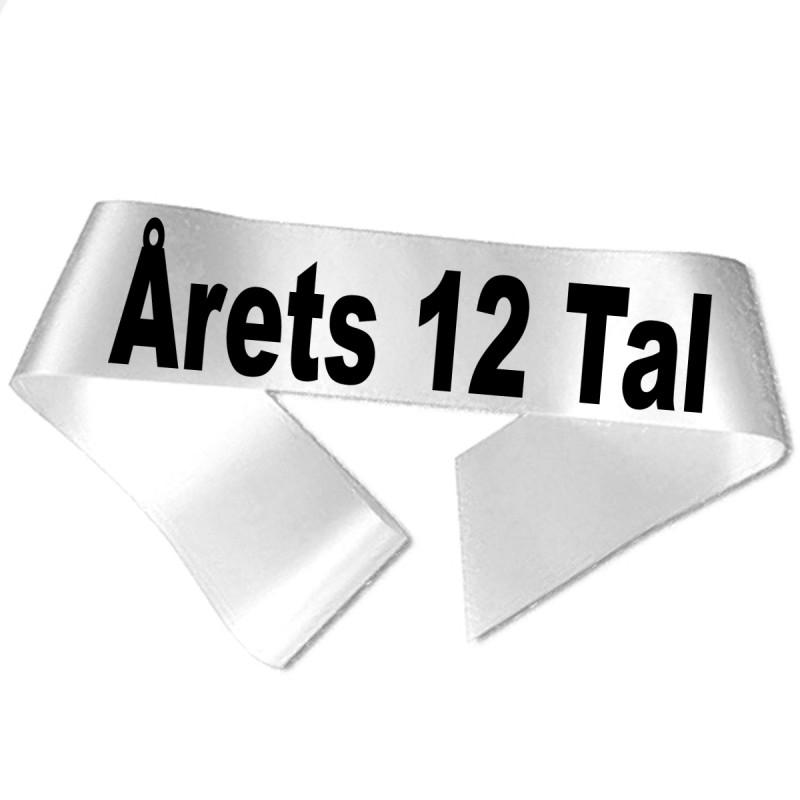 Image of   Årets 12 Tal sort tryk - Ordensbånd