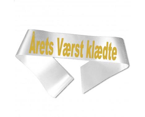 Årets Værst klædte guld metallic tryk - Ordensbånd