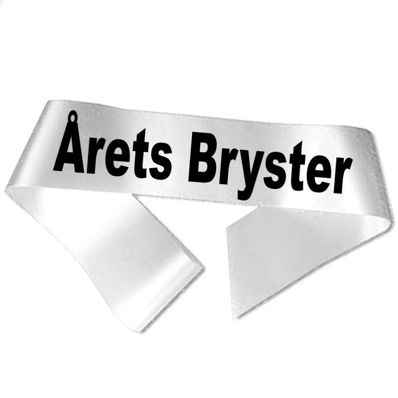 Image of   Årets Bryster sort tryk - Ordensbånd