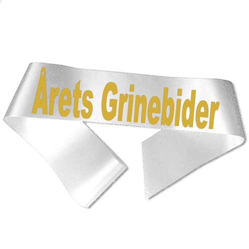 Image of   Årets Grinebider guld metallic tryk - Ordensbånd