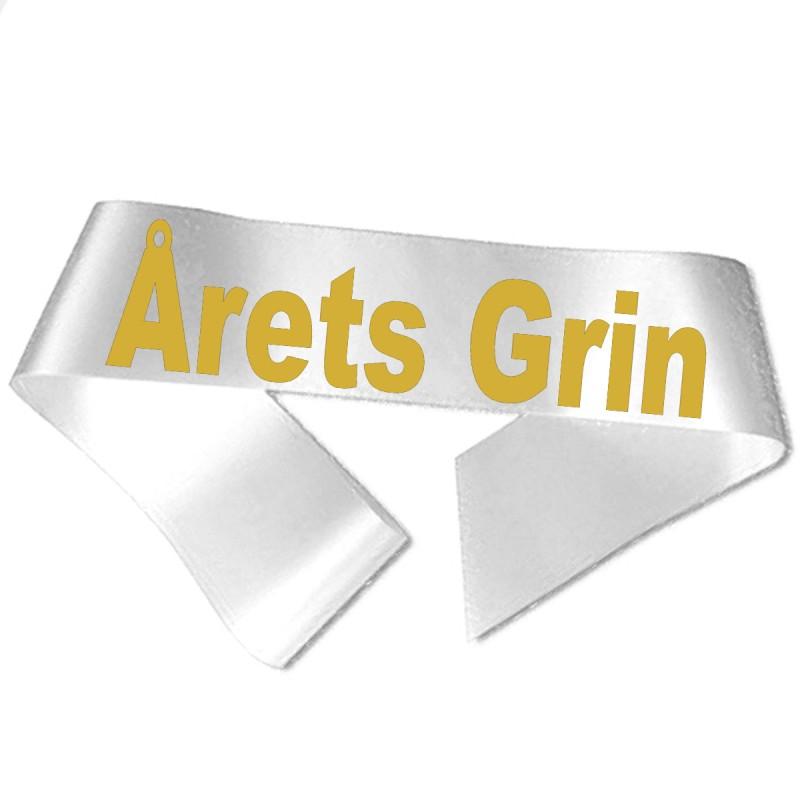 Image of   Årets Grin guld metallic tryk - Ordensbånd