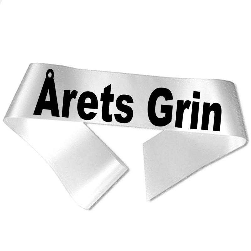 Image of   Årets Grin sort tryk - Ordensbånd