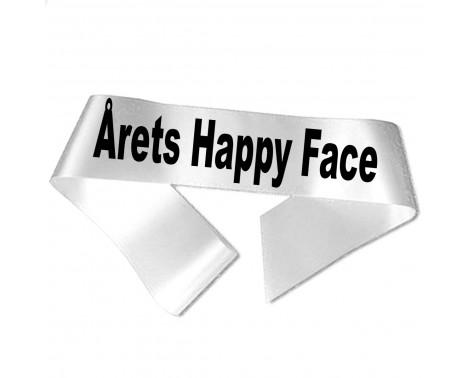 Årets Happy Face sort tryk - Ordensbånd