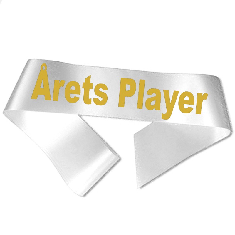 Årets Player guld metallic tryk - Ordensbånd
