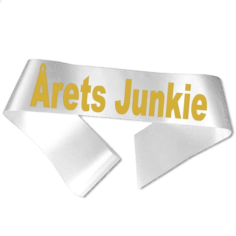 Image of   Årets Junkie guld metallic tryk - Ordensbånd