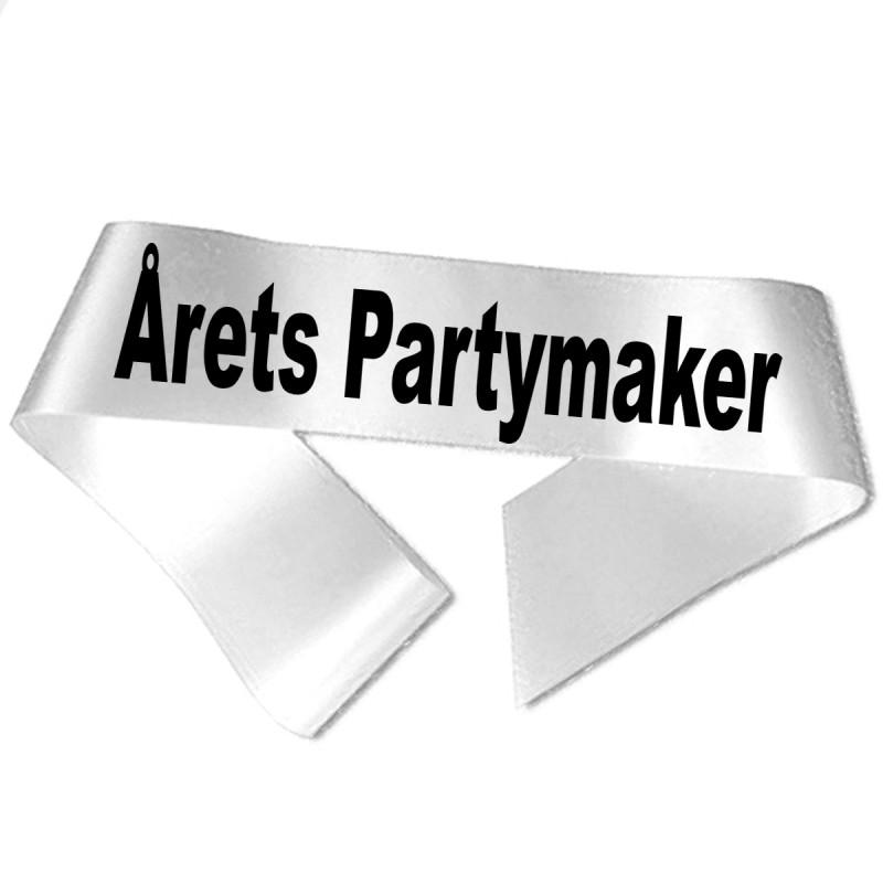 Årets Partymaker sort tryk - Ordensbånd
