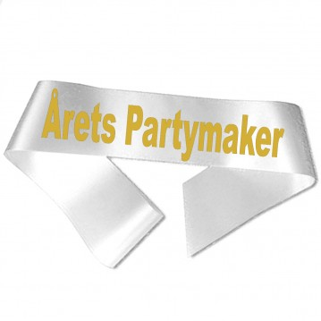 Årets Partymaker guld metallic tryk - Ordensbånd