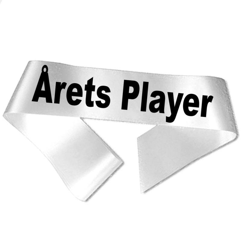 Årets Player sort tryk - Ordensbånd