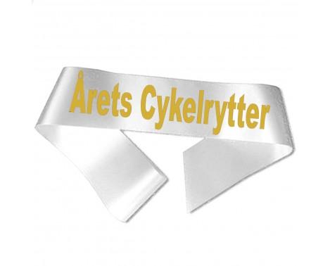 Årets Cykelrytter guld metallic tryk - Ordensbånd