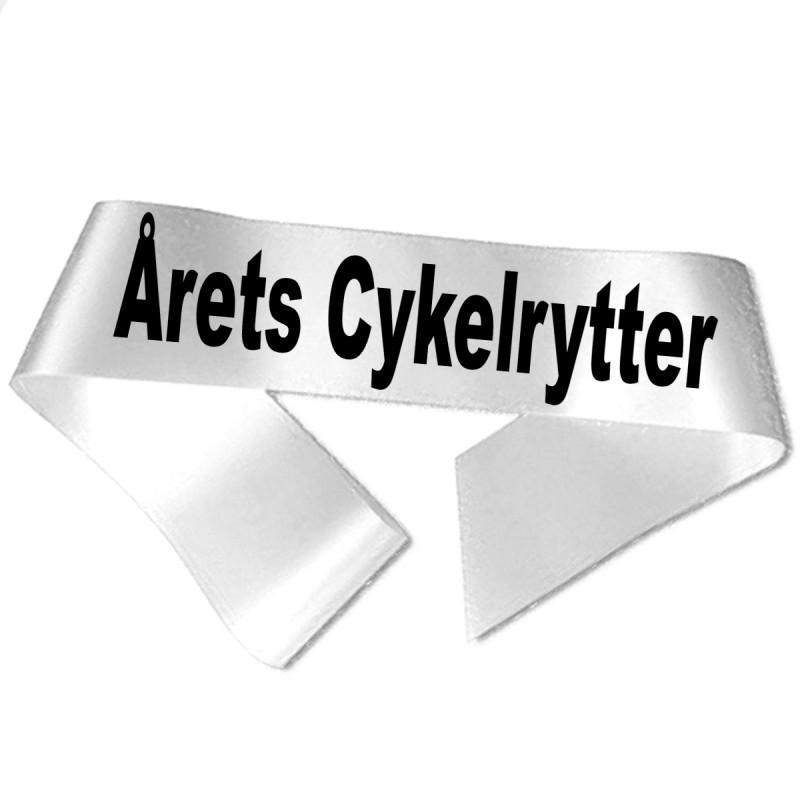Årets Cykelrytter sort tryk - Ordensbånd