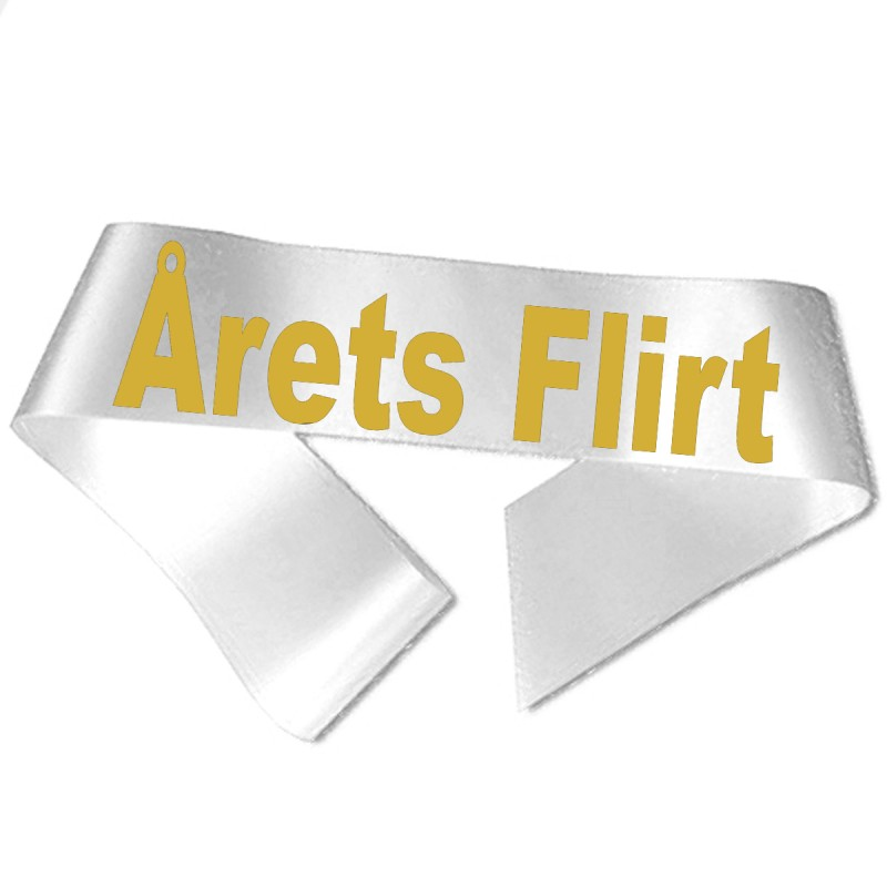Image of   Årets Flirt guld metallic tryk - Ordensbånd