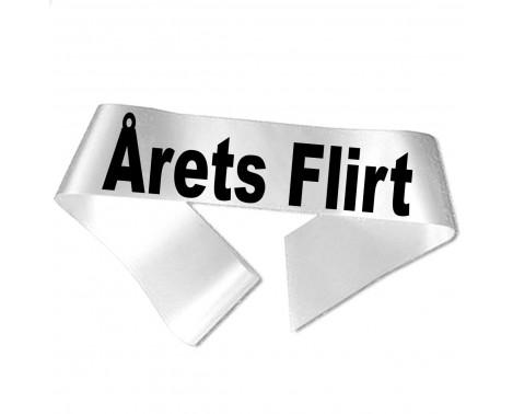Årets Flirt sort tryk - Ordensbånd