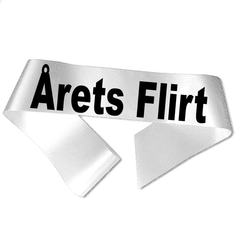 Image of   Årets Flirt sort tryk - Ordensbånd