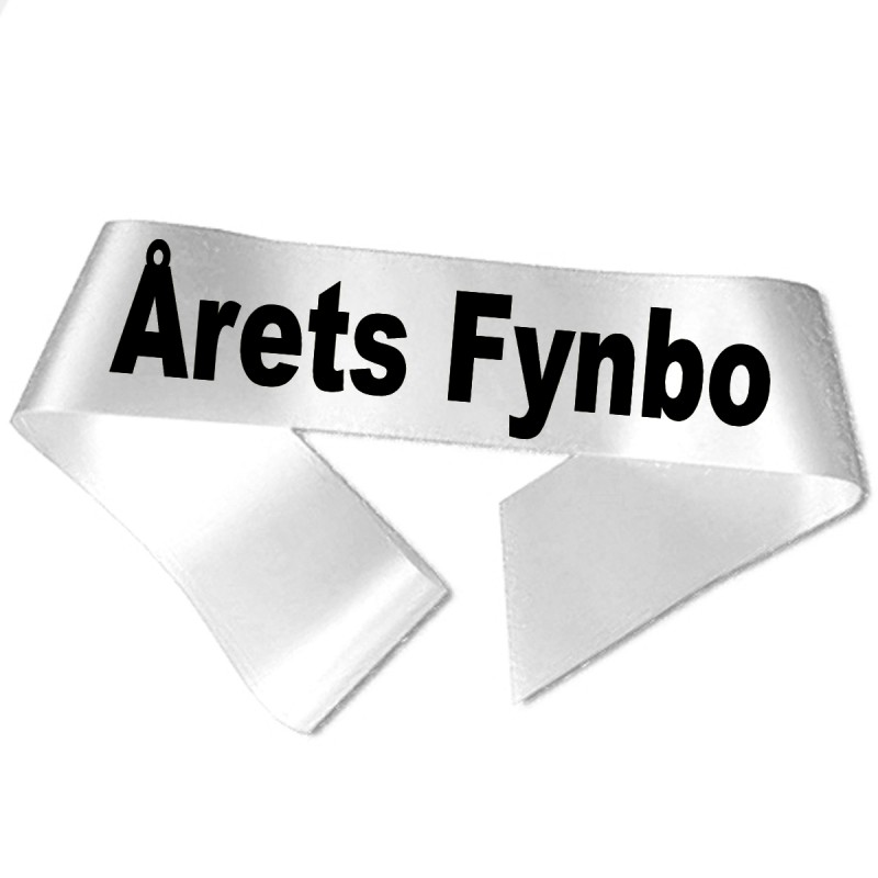 Image of   Årets Fynbo sort tryk - Ordensbånd