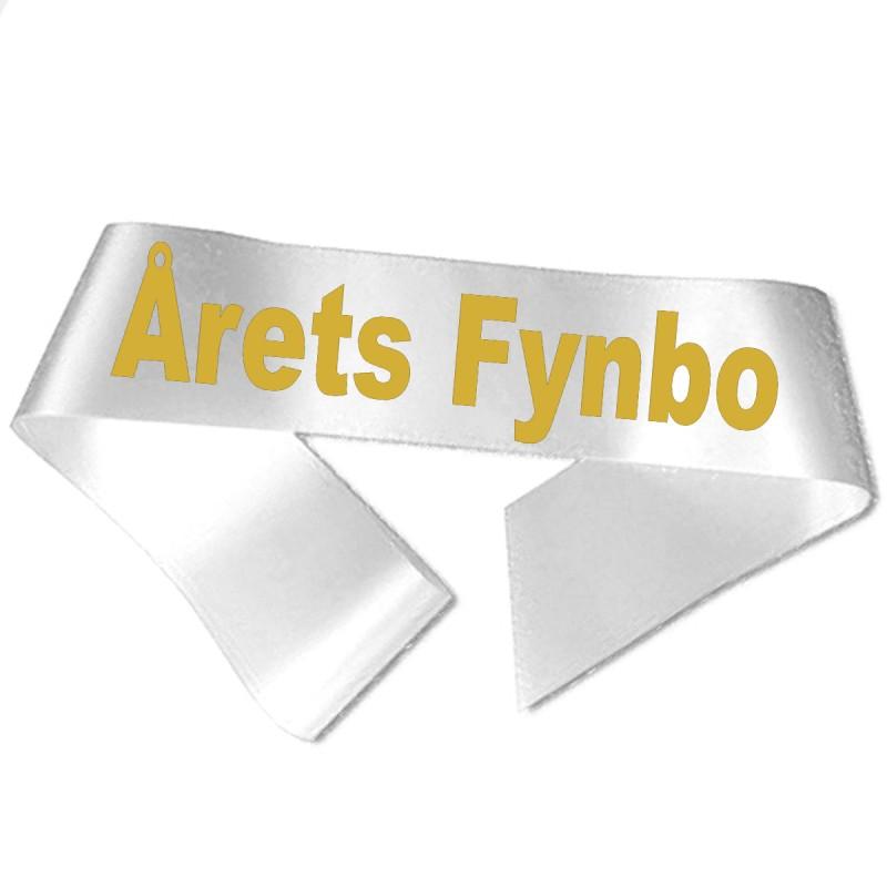 Årets Fynbo guld metallic tryk - Ordensbånd