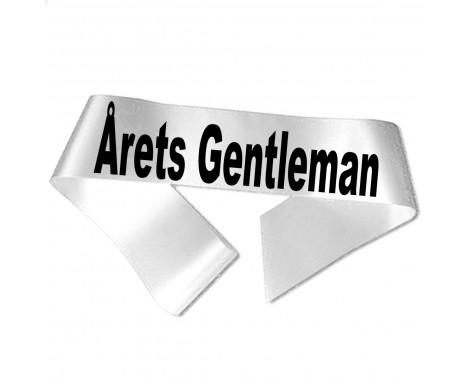 Årets Gentleman sort tryk - Ordensbånd