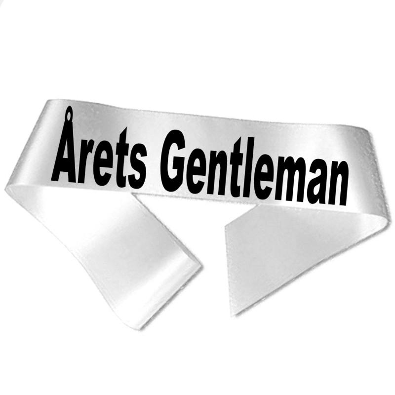 Image of   Årets Gentleman sort tryk - Ordensbånd