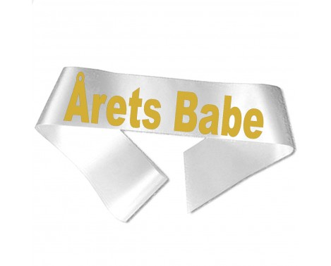 Årets Babe guld metallic tryk - Ordensbånd