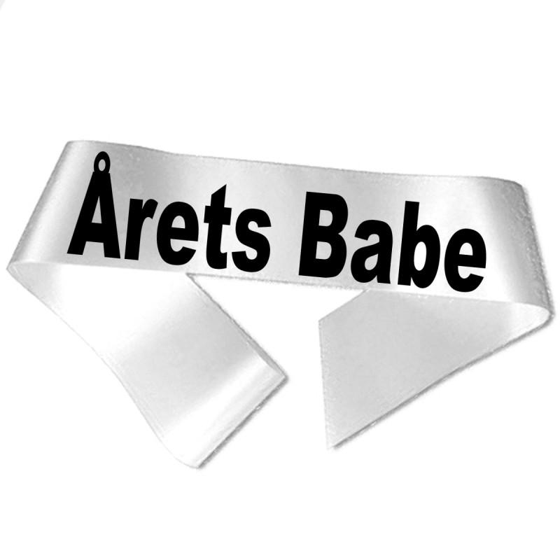 Årets Babe sort tryk - Ordensbånd