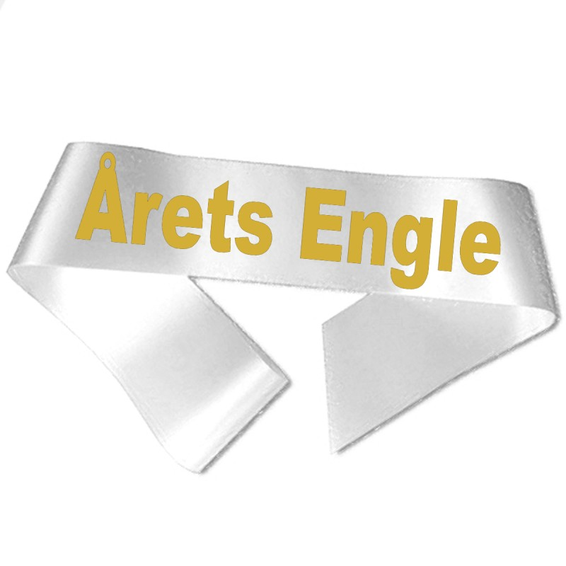 Årets Forfører guld metallic tryk - Ordensbånd