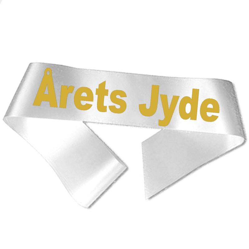 Årets Jyde guld metallic tryk - Ordensbånd
