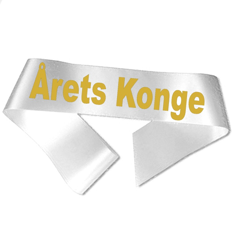 Årets Konge guld metallic tryk - Ordensbånd