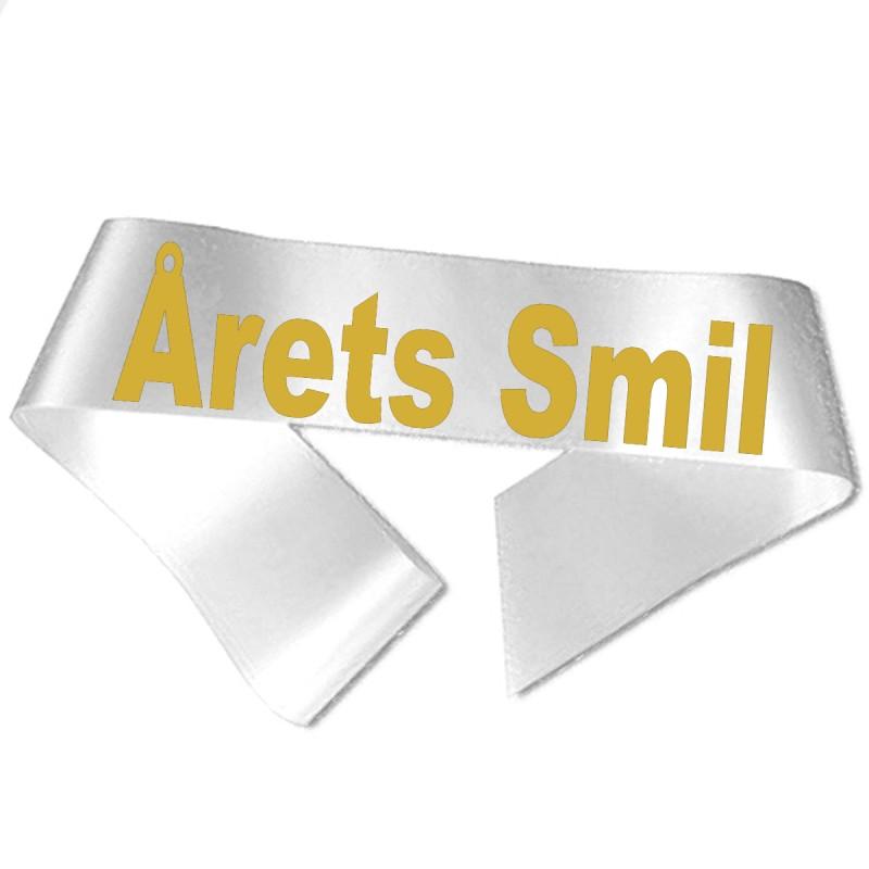 Årets Smil guld metallic tryk - Ordensbånd