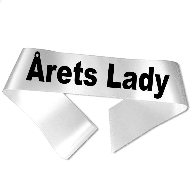 Årets Lady sort tryk - Ordensbånd