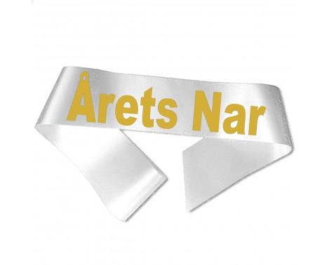 Årets Nar guld metallic tryk - Ordensbånd