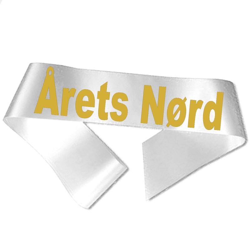 Årets Nørd guld metallic tryk - Ordensbånd