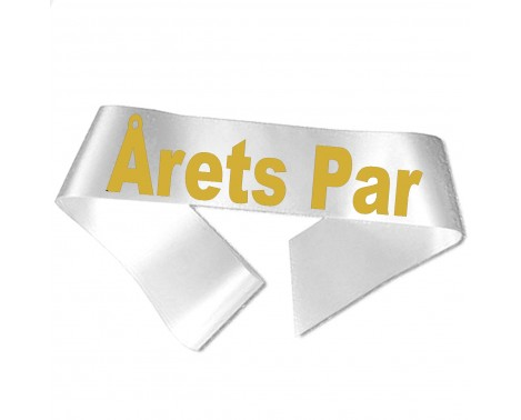 Årets Par guld metallic tryk - Ordensbånd