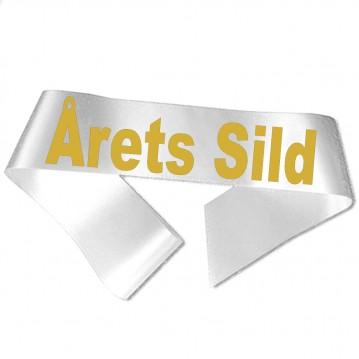 Årets Sild guld metallic tryk - Ordensbånd