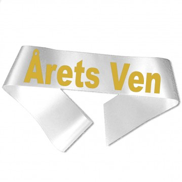 Årets Ven guld metallic tryk - Ordensbånd
