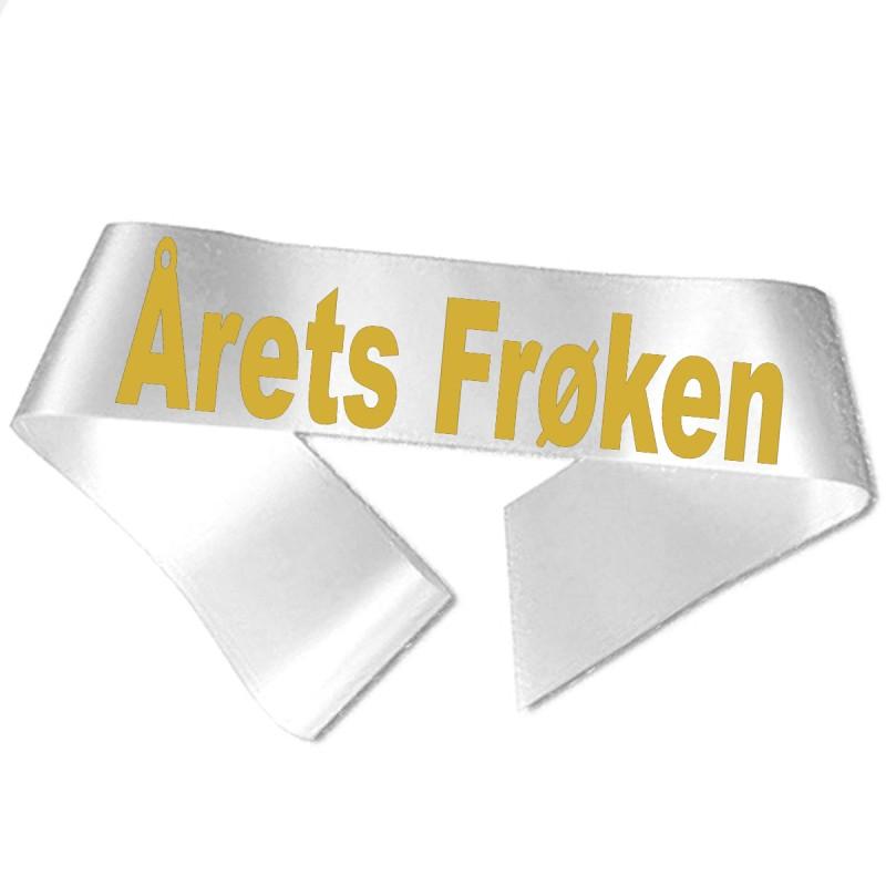 Årets Frøken guld metallic tryk - Ordensbånd