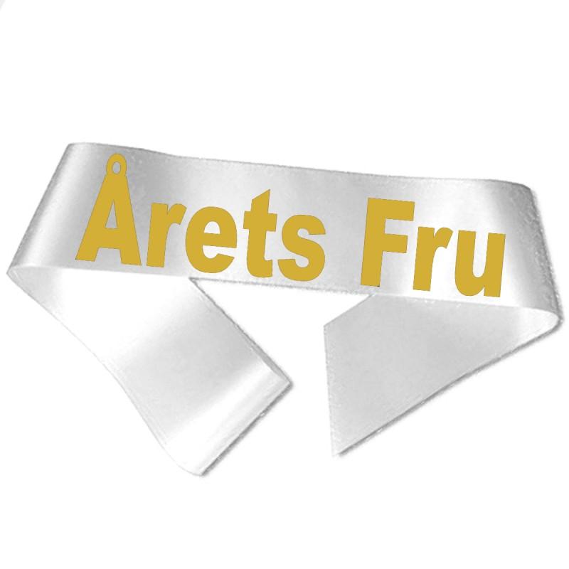 Årets Fru guld metallic tryk - Ordensbånd