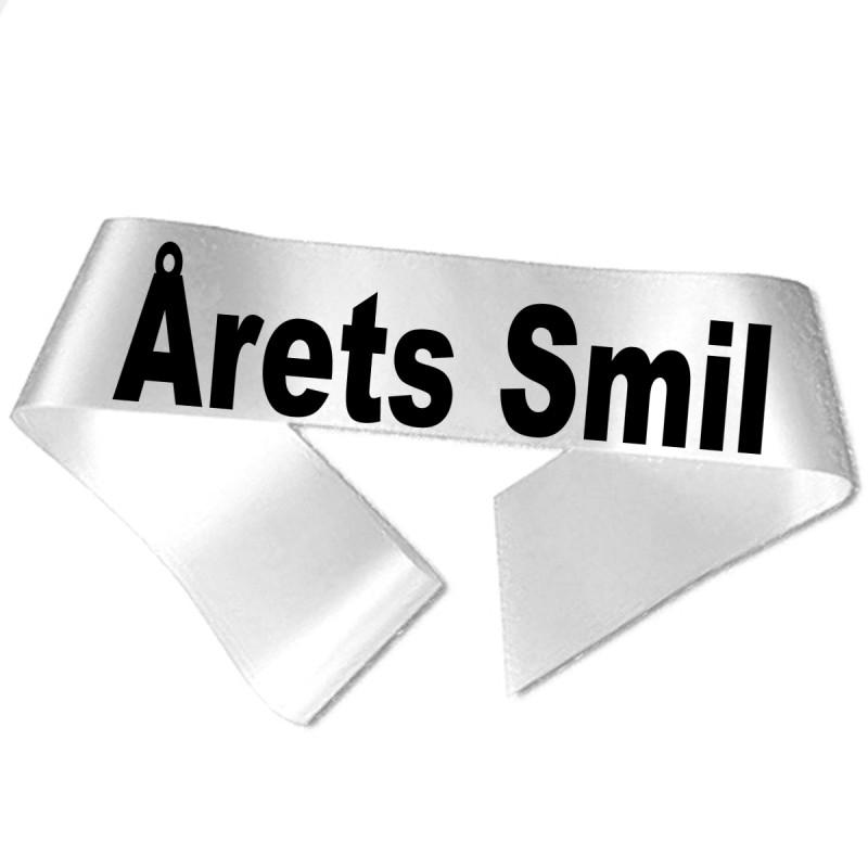 Årets Smil sort tryk - Ordensbånd