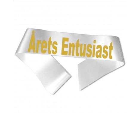 Årets Entuiast guld metallic tryk - Ordensbånd